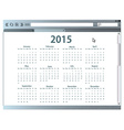 Internet browser with 2015 calendar vector image vector image