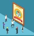 isometric business people celebrate best employee vector image