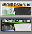 layouts for sao paulo vector image vector image
