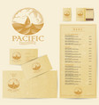 logo and identity seafood restaurant vector image