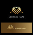 love abstract heart line gold logo vector image vector image