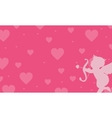 love with cupid backgrounds vector image