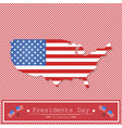 map united state on the background with red lines vector image vector image