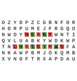 merry christmas greeting card crossword style vector image vector image