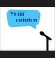 microphone image your voice siluet vector image