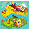 Mountain Flat Landscape Isometric vector image
