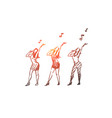 music dance woman singer performance concept vector image vector image