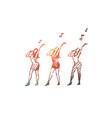 music dance woman singer performance concept vector image