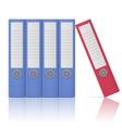 Office binders - five in row vector image