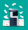 office multifunction printer scanner vector image vector image