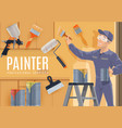 painter profession construction industry vector image vector image