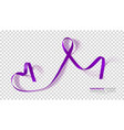 pancreatic cancer awareness month purple color vector image