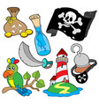 pirate collection 6 vector image vector image