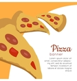 Pizza Banner Italian Snack with Cheese and tomato vector image
