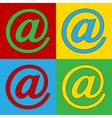 Pop art email icons vector image vector image