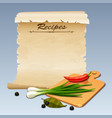 Recipes icon vector image vector image
