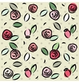Retro roses pattern vector image vector image