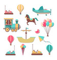 scrapbooking patches fun kid cartoon trendy cute vector image