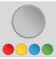 Set of blank colourful web buttons for website or vector image