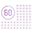set of timers sign icon vector image