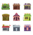 shops and restaurants vector image vector image