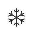 snowflake icon isolated flat design vector image
