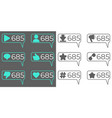 social network icons flat design vector image