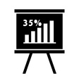 statistics graph vector image vector image