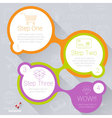 step step template for infographics vector image