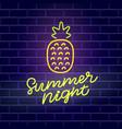 summer night neon banner template vector image