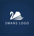 swan logo sign emblem-14 vector image vector image
