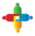 Teamwork union logo vector image vector image