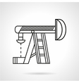 Thin line oil derrick icon vector image vector image