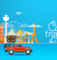 Travel Vacation design template Car travel vector image