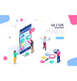 user interface design hero banner vector image