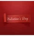 Valentines Day realistic curved Ribbon vector image