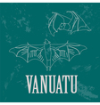 Vanuatu Flying fox Retro styled image vector image vector image