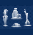 waterfall water cascade flowing with splashes and vector image vector image