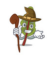 witch chard mascot cartoon style vector image vector image