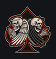 with an angel and devil skeletons in tattoo style vector image vector image