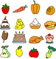 Set of meal icons vector image