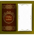 Elegant pattern luxurious card with lace vector image