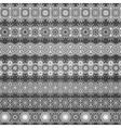 Set of seamless ornamental borders vector image