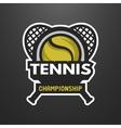 Tennis sports logo label emblem vector image