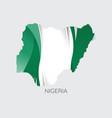 map of nigeria vector image