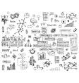 Social network doodles - hand drawn set of media vector image