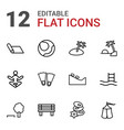 12 relaxation icons vector image vector image