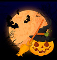 a scary halloween design vector image