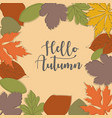 autumn background eps10 vector image vector image