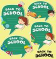 Back to school banner design vector image vector image